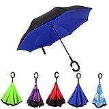 Reversion Regenschirm, Innovative Schirme Double Layer Winddicht Regenschirm Freie Hand Taschenschirm inverted Stockschirme mit C Griff für Reisen und Auto Outdoor di Cloud-Castle