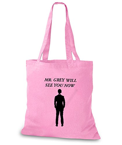 StyloBags Jutebeutel / Tasche Mr. Grey will see you now Lime