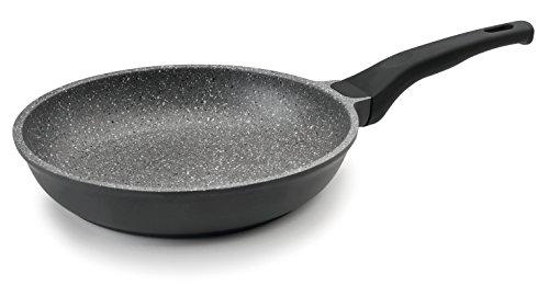 Lacor Eco 24224 - Sartén piedra, aluminio fundido de 24 cm, gris