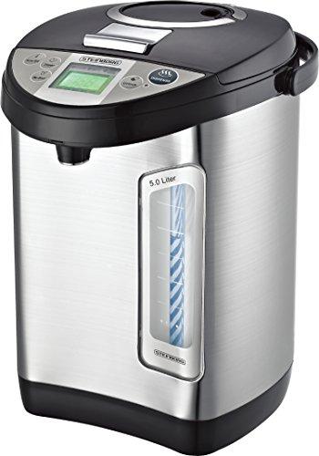 Thermopot 5 Liter | Edelstahl Heißwasserspender | 24 Stunden Timer | Wasserspender | Kocher | Dispender | Thermoskanne | Teekocher | 3 Möglichkeiten...