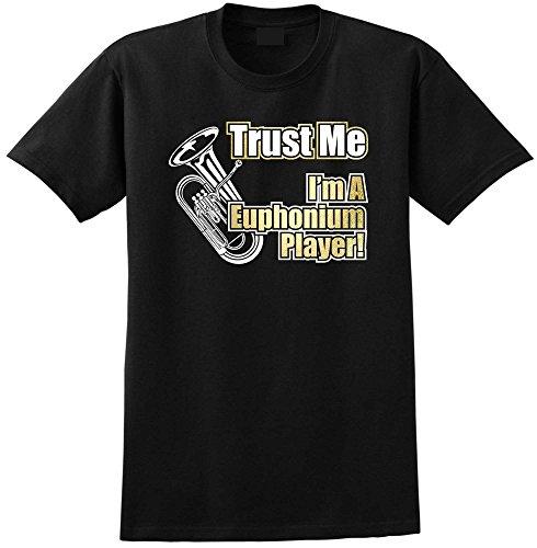 Euphonium Trust Me - Black Schwarz T Shirt Größe 92cm 39in Medium MusicaliTee