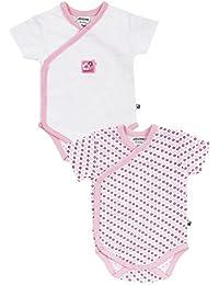 Jacky Baby Mädchen Wickel-Body kurzarm 2er-Pack Baby girl rosa 151708