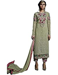 Vasu Saree Teal Green Georgette Embroidered Salwar Kameez