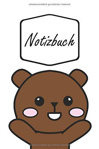 Soft Kostüm Braun - Notizbuch: Happy Frohlicher Braunbär Bär in Cartoon Comic Stil | geeignet als Tagebuch, Notizheft, Skizzenbuch und Schulheft | für Kinder: Mädchen und ... | liniertes Papier | Soft Cover | 100 Seiten)