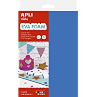 Apli kids 12372 Pack of 10 EVA Foam Sheets A4, Various