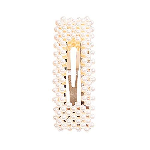Haarschmuck/Dorical Damen Hochzeit Haarspange Braut Gold Perlen Schleife Glitzer Accessoires/Geburtstags Geschenk Party Zubehör Großer Spitzer Clip für Mama Frauen Mädchen(G)