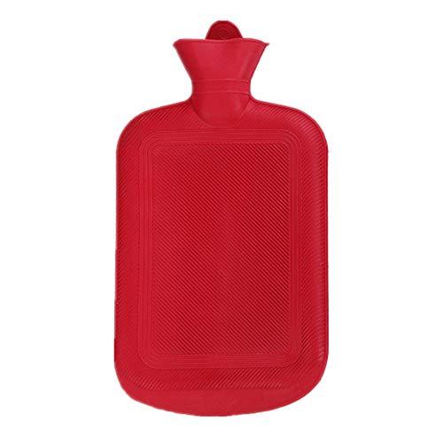 BEARCOLO Wärmflasche, aus Silikagel, für Reisen, dick, hochdicht, Gummi, Winterbettwäsche-Zubehör, rot, XL