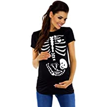 Zeta Ville - T-shirt Camiseta premamá estampado de esqueleto - para mujer - 085c