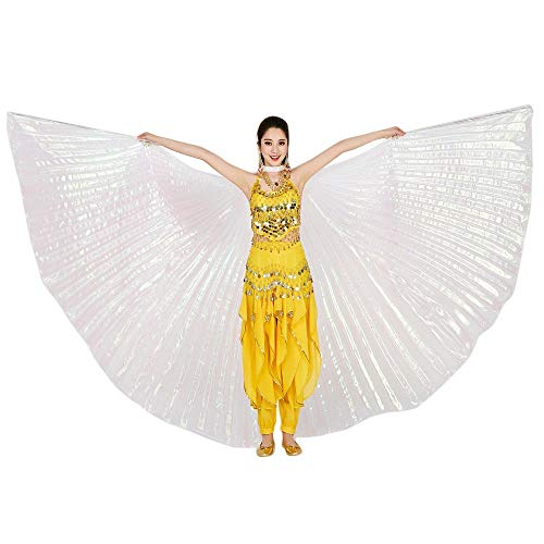 Chejarity Bauchtänzerin Isis Flügel Einfarbig Orientalischen Tanz Dance Fairy Schmetterlings Wings Multi Color Halloween Cosplay Cosplay Kostüm 360 Grad Bühnenauftritte Zubehör (142CM, - Ägyptische Bauchtänzerin Kostüm