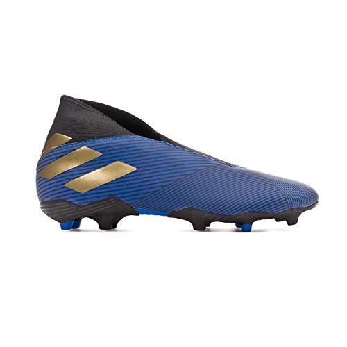 8618ea0b38371 adidas Nemeziz 19.3 LL FG, Bota de fútbol, Football Blue-Gold Metallic-Core  Black, Talla 6,5 UK (40 EUR)