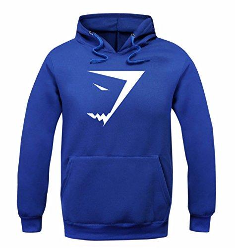 Men's Fashion Shark Sweatshirts Casual Sweatshirts blue white