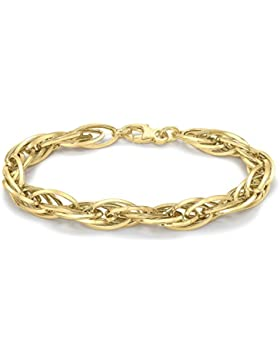 Carissima Gold Damen-Armband Twisted Oval Link 375 Gelbgold 19 cm - 1.29.7092