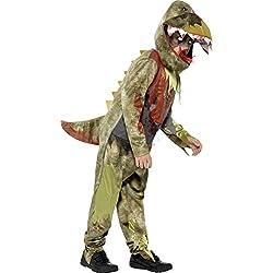 Smiffy's - Disfraz deluxe dinosaurio, color verde (44294M)
