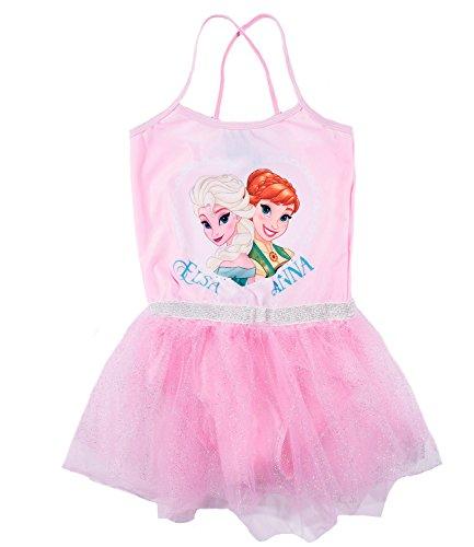 Disney Die Eiskönigin Elsa & Anna Mädchen Ballettanzug - rosa - 104