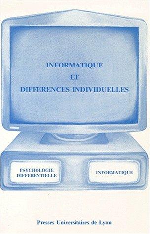 Informatique et différences individuelles par Christian Bessiere