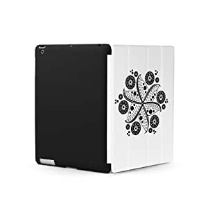 Poetic Cover Mate Plus case for The New iPad (3rd Gen) / iPad 3 / iPad HD White Flower Glazer