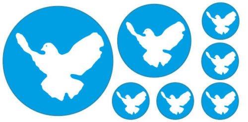 Preisvergleich Produktbild Friedenstaube Set Tauben Auto Kfz Aufkleber Sticker Flagge KA