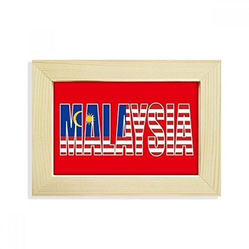 DIYthinker Malaysia Land Flagge Name Desktop-HÖlz-Bilderrahmen Fotokunst-Malerei Passt 10.2 x 15.2cm (4 x 6 Zoll) Bild Mehrfarbig