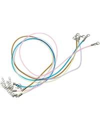Halsband aus Silikon, 45 cm, verlängerbar, Metallverschluss, verschiedene Farben