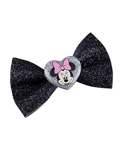 Mädchen Kostüm Kleines Duck - SIX Kids Disney Minnie Mouse Haarspange, Haarclip, Schwarze Glitzer Schleife, Karneval, Kostüm (304-472)