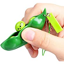 Chaud vendre ! Tefamore Fun Beans Squeeze Toys Pendants Anti Stress Ball Squeeze Funny Gadgets