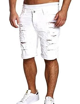beautyjourney Pantaloncini uomo jeans taglie forti pantaloni corti uomo sportivi estate shorts uomo sportivi cotone...
