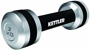 Kettler Chrom Hanteln 2 X 1 Kg, Schwarz/Silber, 07371-050