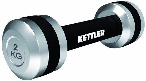 Kettler, Set di manubri, 2 pz, Nero (Schwarz/Silber), 2 kg