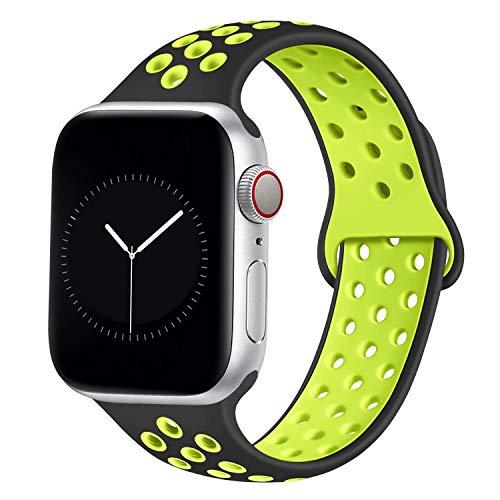 DCMEKA per Cinturino Apple Watch 38mm 42mm 40mm 44mm, Cinturini Sportivi di Ricambio in Silicone Morbido per iWatch Serie 5 4 3 2...