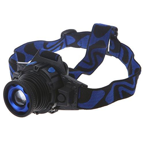 haia7k4k LED Stirnlampe Stirnlampe, wiederaufladbar, XM-L Q5, 3 Modi, zoombare Taschenlampe, eingebauter Akku