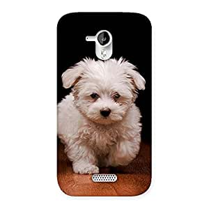 Impressive Cute Walking Dog Back Case Cover for Micromax Canvas HD A116