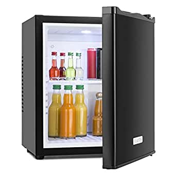 klarstein mks 10 frigo de bar silencieux minibar r frig rateur 0db 24 litres cube noir. Black Bedroom Furniture Sets. Home Design Ideas