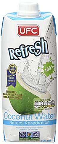 UFC Refresh 100% Natural Coconut Water (500 mL - 12 Pack)
