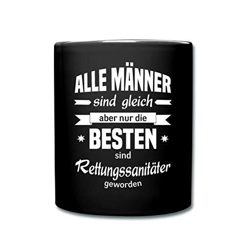 Spreadshirt Die Besten Männer Sind Rettungssanitäter Tasse einfarbig, Schwarz