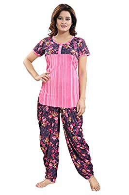 TUCUTE Top and Dhoti Style Bottom Night Suit/Nighty/Nightdress/Night Gown for Women and Girls Size: L/XL/XXL