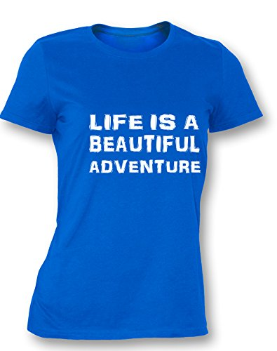 Life is a Beautiful Adventure - Damen T-Shirt Royal / Weiß