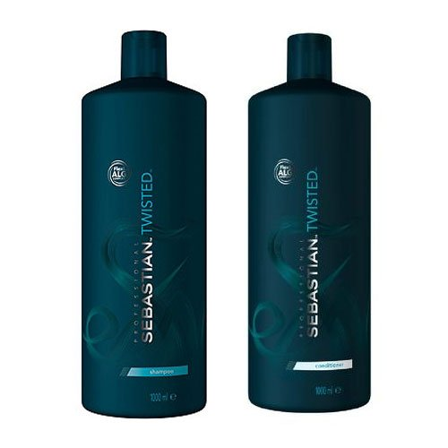 Sebastian Twisted Elastic Cleanser Curl Shampoo 1000 ml und Conditioner 1000 ml
