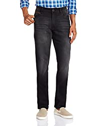 John Players Mens relaxed Jeans (8907349039383_ZCMWJNA160157_36W x 36L_Jet Black)