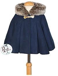 Ricittos - Capa Abrigo con Mangas de niña en Color Azul Marino