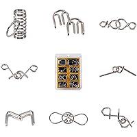 Set di 8pz Rompicapo in Metallo Giocattoli Educativi IQ Test Puzzle per Adulti e Bambini