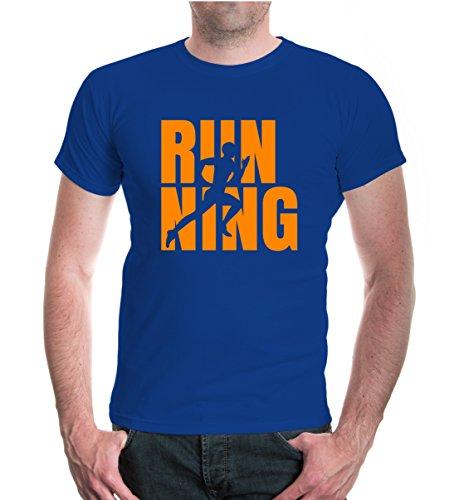 buXsbaum® T-Shirt Running Type Royal-Neonorange