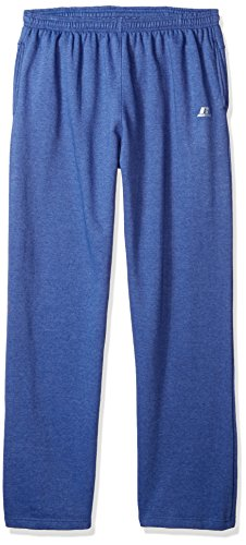 Russell Athletic Men's Big and Tall Fleece Pant Open Bottom r LFT Thigh 2 Pockets, Blue Heather, 2X (Fleece Pant Open Bottom)