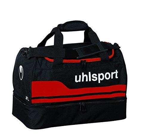 uhlsport 100424503_Schwarz/Rot_43.0 x 24.0 x 30.0 cm, 30 Liter - Borsa sportiva unisex, colore: Multicolore nero/rosso