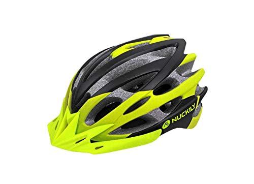 Casco Mountain Bike Casco Bici Pc Shell Eps Liner Casco Ciclismo con Adesivo Riflettente Casco Mountain Bike 31 Prese D'Aria Circonferenza Testa,B,Tutto il codice