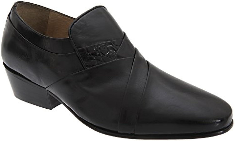 Montecatini Herren Vamp Leder Schuhe Reptile
