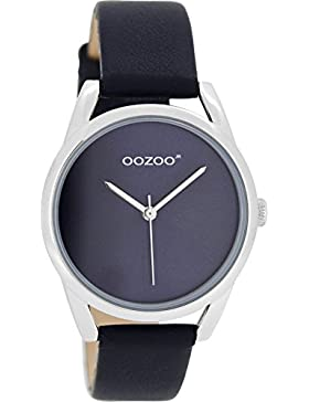 Oozoo Mädchen-/Damenuhr mit Lederband 36 MM Dunkelblau JR293