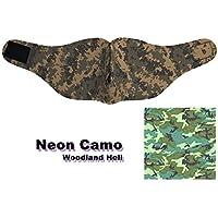 Tactical Attack Woodland Claro Neon Camo Media máscara Biker Máscara airsoftmaske Camuflaje kreidezeit Airsoft Caza Paintball Airsoft Outdoor Pesca Caza Bounce Moto