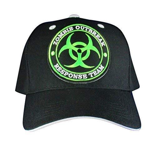 AffinityAddOns Zombie Outbreak Hat - Bestickte Aufnäher Baseball Cap Schwarz, Weiß