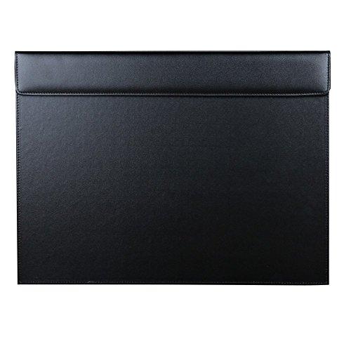 KINGFOM™ TM 46 x 35 cm A3 Sous-main en cuir de grande qualité (Noir)