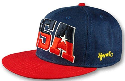 Djinns Herren Caps / Snapback Cap Team USA 6 Panel blau Verstellbar